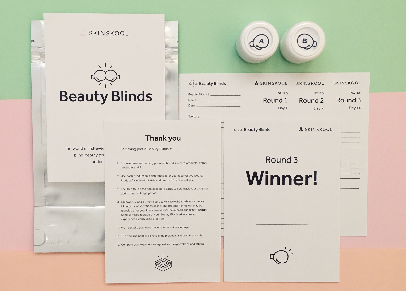 Beauty Blinds package contents